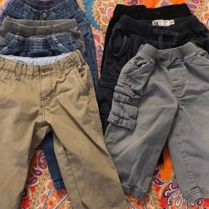 7 pairs of Boys 18m pants